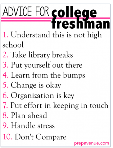 The Voyager : Tips For College Freshmen