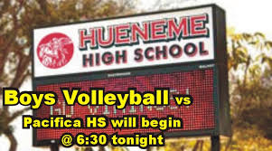 HHS Boys Volleyball's first Season game