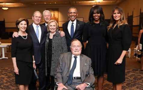 Four Presidents come together to pay tribute to Barbara Bush